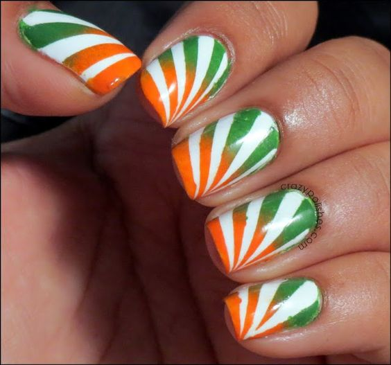 indian indpendence nail art 8