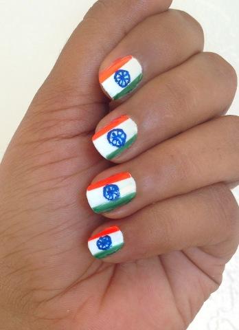 Indian_Flag nail art