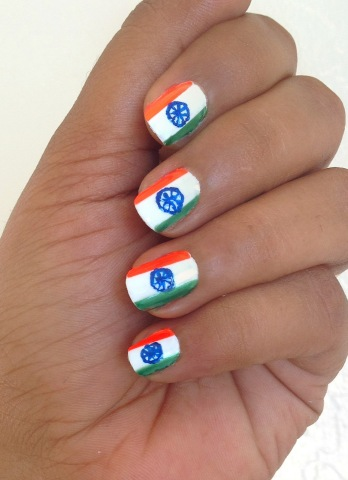 Indian_Flag nail art